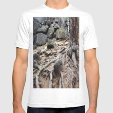 Root MEDIUM Mens Fitted Tee White