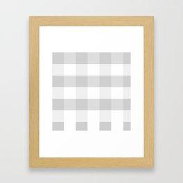 Gray Buffalo Plaid  Framed Art Print