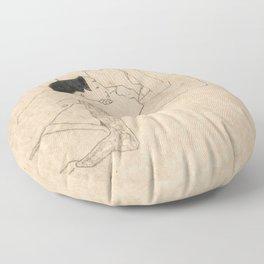 """Egon Schiele """"Lovers"""" Floor Pillow"""