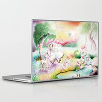fairy tale Laptop & iPad Skins featuring Fairy Tale by Julie Edwards