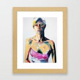 Portrait of Eileen Grogan Framed Art Print