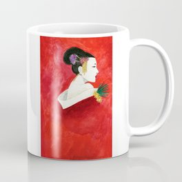Red Wall Geisha Coffee Mug