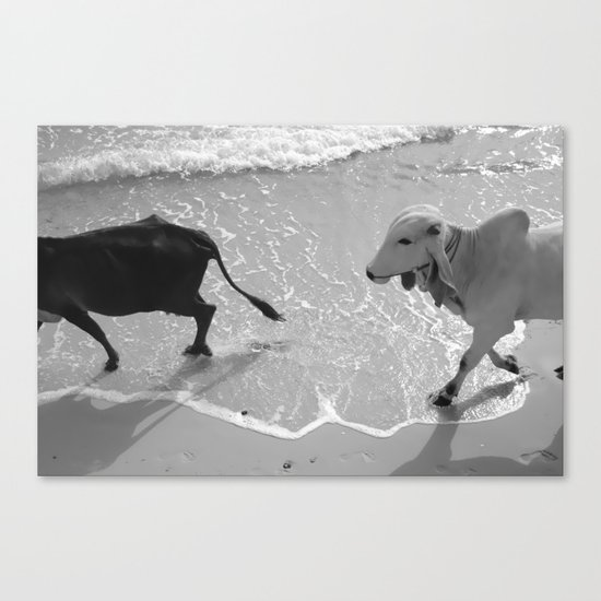 Black and White and Canvas Print