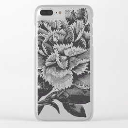 Vintage Carnation Clear iPhone Case