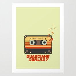 Music, Guardians of the Galaxy, Movie Art Print