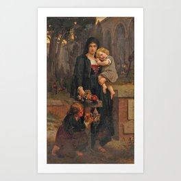 Pierre-auguste Cot , the mother and her children Art Print
