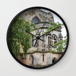 Rosslyn Chapel outside Edinburgh, Scotland Wall Clock
