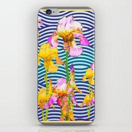 Colorful Iris Water Garden Art Pattern iPhone Skin