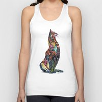 tatoo Tank Tops featuring Tatoo cat by Annie Liu