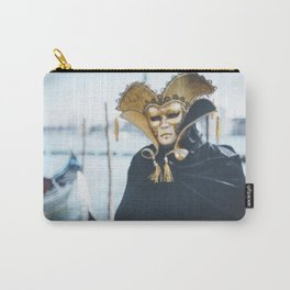Black and gold carnival mask in Venice Carry-All Pouch