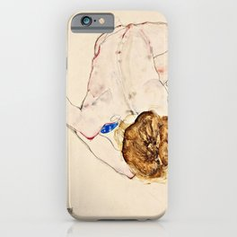 Egon Schiele - Nude With Blue Stockings iPhone Case