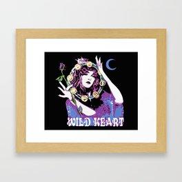 Blame It On My Wild Heart Framed Art Print