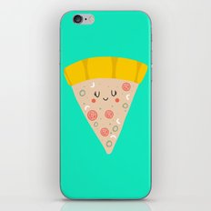 Cute funny smiling pizza slice iPhone & iPod Skin