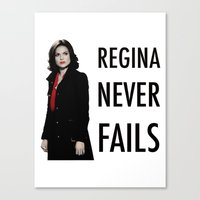 regina mills Canvas Prints featuring Regina never fails by Geek World