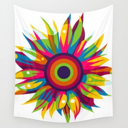 Colorful Sun Flower Wall Tapestry