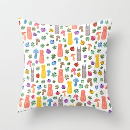 Animals & Lucky charms Throw Pillow