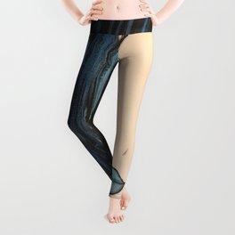 My Mermaid. Original Painting by Jodilynpaintings. Figurative Abstract Pop Art. Leggings