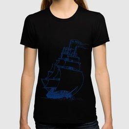 Shipbuilder ship boat building engineer harbor lak T-shirt