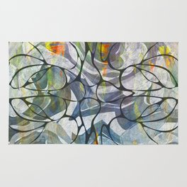 Abstract Flower Pattern Rug