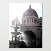 melbourne Canvas Prints featuring Melbourne  by Carmen