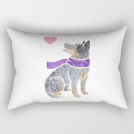 Watercolour Australian Cattle Dog Rectangular Pillow