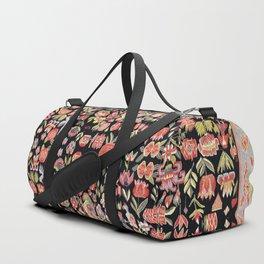 Täcke Antique Swedish Skåne Wedding Blanket Print Duffle Bag