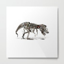 Mechanical T.Rex Metal Print