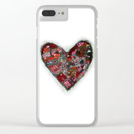 heart zip. Clear iPhone Case