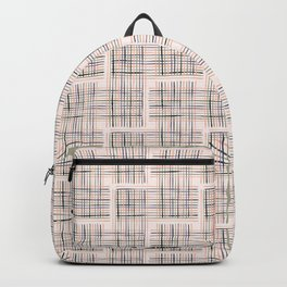 Criss Cross Weave Hand Drawn Backpack