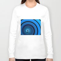 james bond Long Sleeve T-shirts featuring Bond Man by Steve Purnell