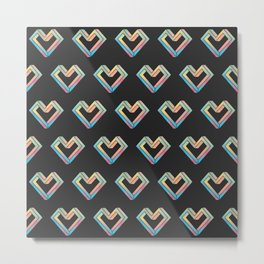 le coeur impossible (pattern) Metal Print