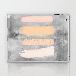 Pastel Stripes on Concrete Laptop & iPad Skin