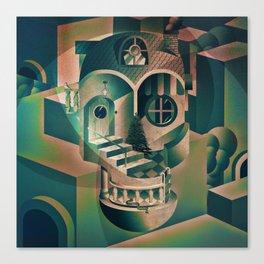 Utopia Skull 1 Canvas Print