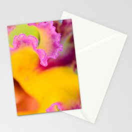 Yellow orchid Cattleya macro II Stationery Cards