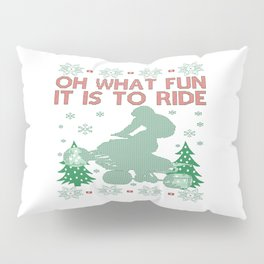 Quad Biking Christmas Pillow Sham