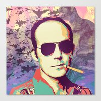 hunter s thompson Canvas Prints featuring Hunter S. Thompson by victorygarlic