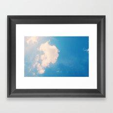 lazy cloud Framed Art Print
