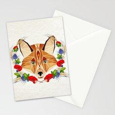 spring fox  Stationery Cards