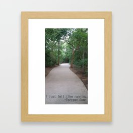 I just felt like running. Framed Art Print