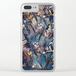 NIGHT FOREST XI Clear iPhone Case