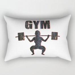 Gym Female Weightlifter Rectangular Pillow
