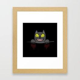 Creepy Pocket Cat Framed Art Print