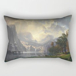 Among the Sierra Nevada California by Albert Bierstadt, 1868 Rectangular Pillow