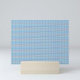 Zig Zag on Blue Mini Art Print