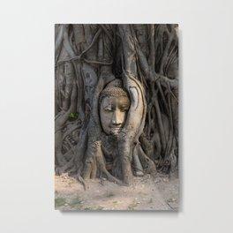 Buddha head, Thailand Metal Print