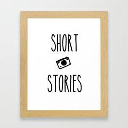 Short Stories Framed Art Print