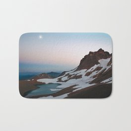 Alpine Lake Moonrise Bath Mat