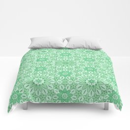 Rings of Flowers - Color: Mint Julep Comforters
