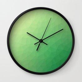 Green flakes. Copos verdes. Flocons verts. Grüne Flocken. Зеленые хлопья. Wall Clock