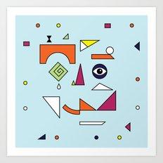 Face Modern (No.1) Art Print